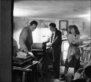 Olga et Enrico Pontremoli et Philipeau © Atelier Doisneau